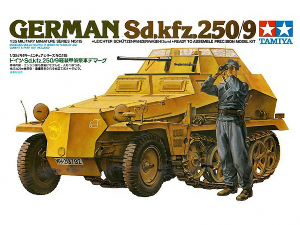 Модель Лёгкий БТР разведки  Sd.kfz.250/9 (1:35)