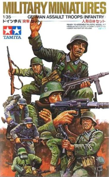 Сборная модель Немецкая штурмовая пехота