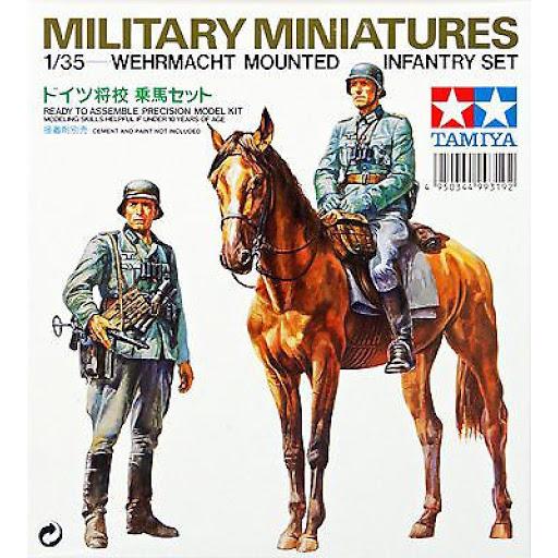 Сборная модель Нем. солдат на коне и 1 фигура солдата