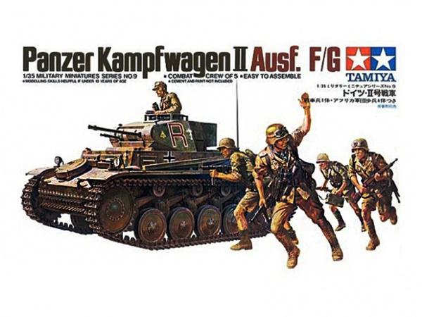 Сборная модель Нем. PanzerKampfwagen II Ausf F/G (с 5 фигурами)