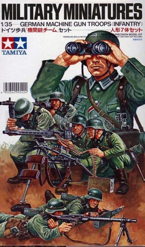 Сборная модель Немецкие пулеметчики 7 фигур
