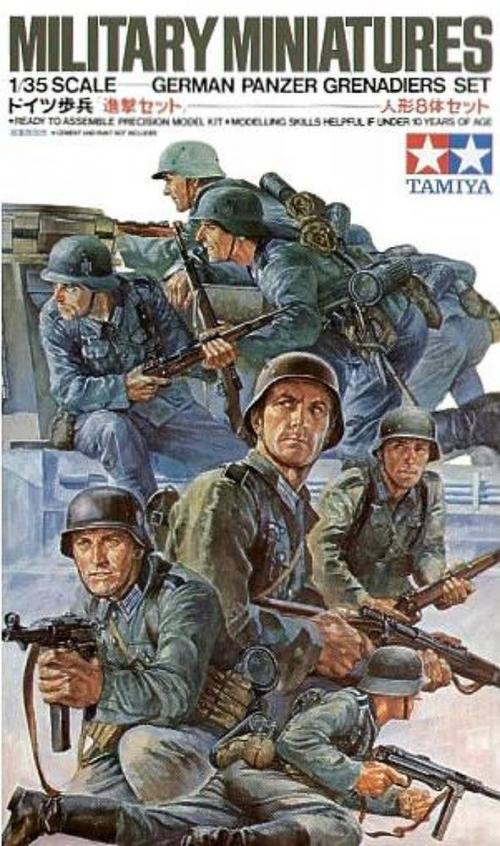 Сборная модель Немецкий танковый десант в действии 8 фигур