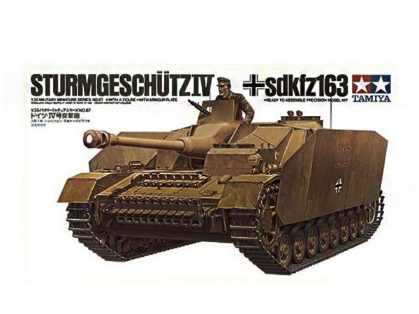 Сборная модель Нем. САУ на гусеничном ходу Sturmgeschutz IV SdKfz163 (1 фиг