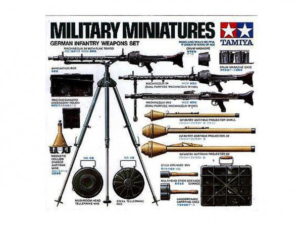 Модель Набор вооружения немецких солдат (24 вида оружия) (1:35)