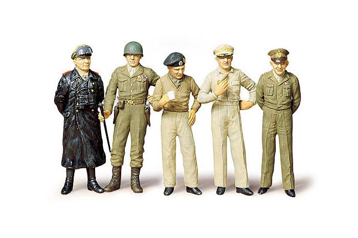 Сборная модель Генералы 2-й мировой войны:  Паттон, Эйзенхауэр, Роммель и д