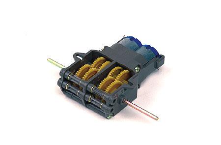 Сборная модель 2-моторный, 2-х скоростной редуктор.