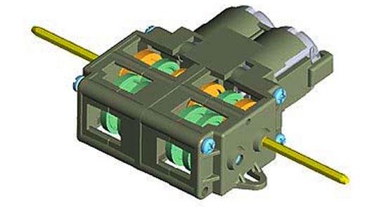 Сборная модель 2-моторный, 4-х скоростной редуктор