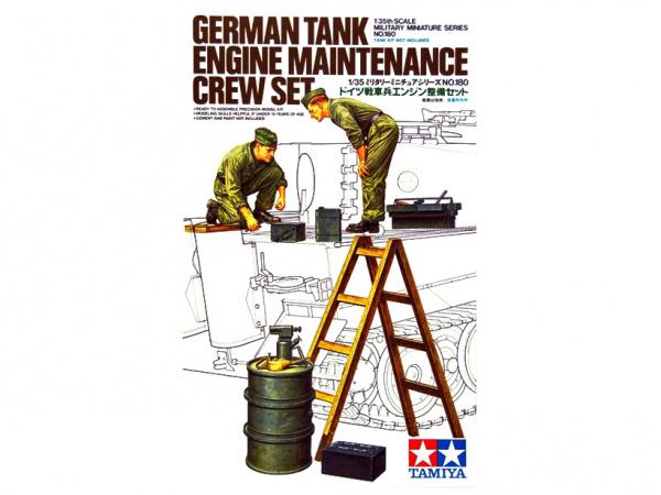 Сборная модель Немецкие механики (2 фигуры солдат)