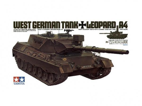 Модель Танк Леопард Leopard А4 с фигурой командира