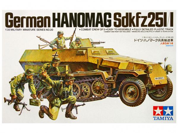 БТР Hanomag Sd.kfz251/1 c 5 фигурами