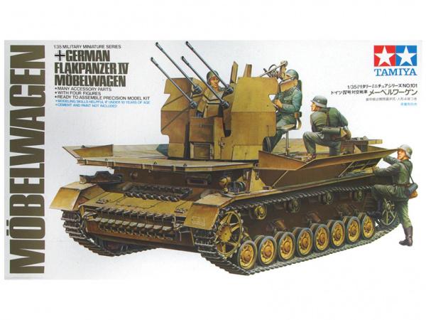 Модель German Flakpanzer Mobelwagen Немецкая самоходная зенитная ус