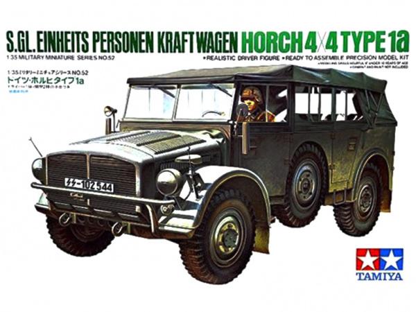 Модель 35052 Tamiya Немецкий штабной автомобиль Ger.Horch Type 1A с