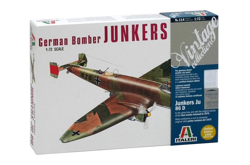 Сборная модель САМОЛЕТ JUNKERS JU-86D