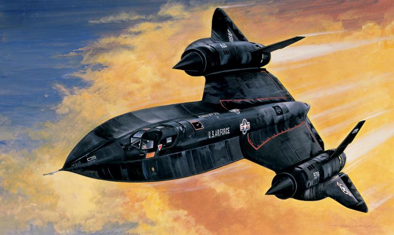 Модель САМОЛЕТ SR-71 BLACK BIRD