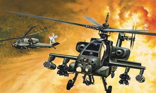 Сборная модель Вертолет AH-64 APACHE