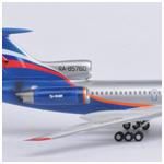 Модель - Российский пассажирский авиалайнер ТУ-154М.
