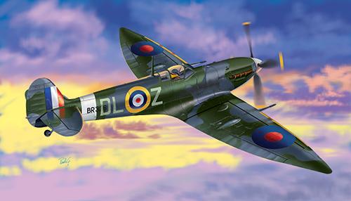 Сборная модель Самолет Spitfire Mk. VI