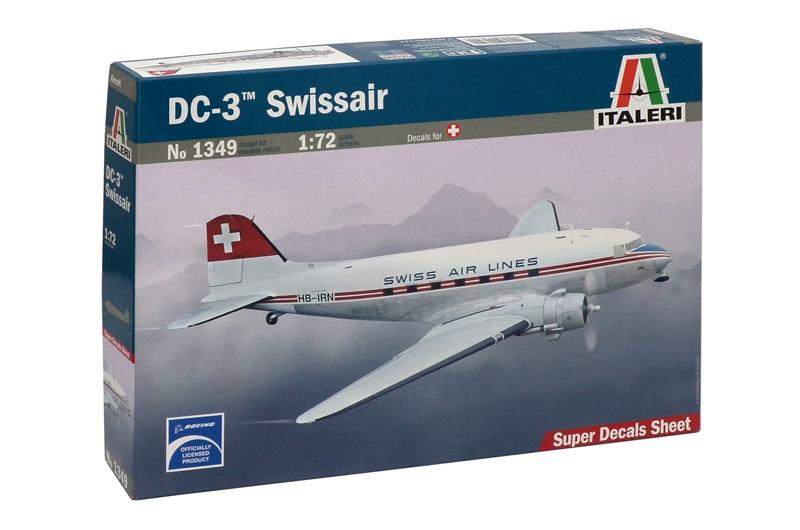 Сборная модель САМОЛЕТ DC-3 SWISSAIR