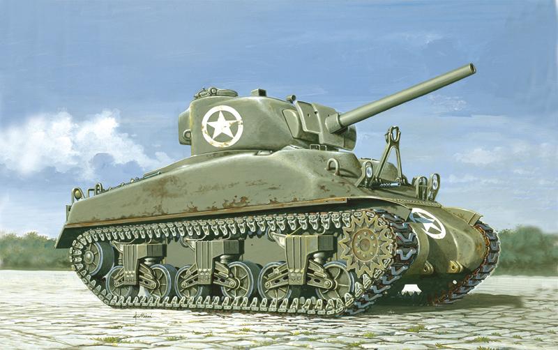 Сборная модель Танк М4 Sherman