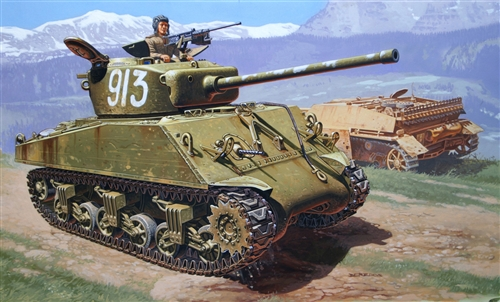 Сборная модель Танк Шерман М4А2