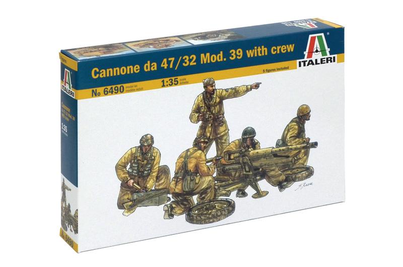 Модель Пушка 47/32 Мод.39 с расчетом