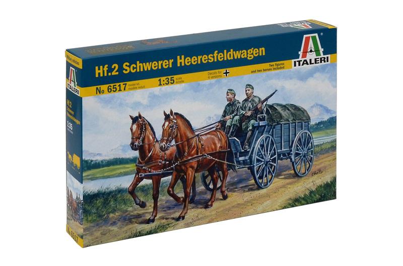 Сборная модель Конная повозка с 2-мя лошадьми