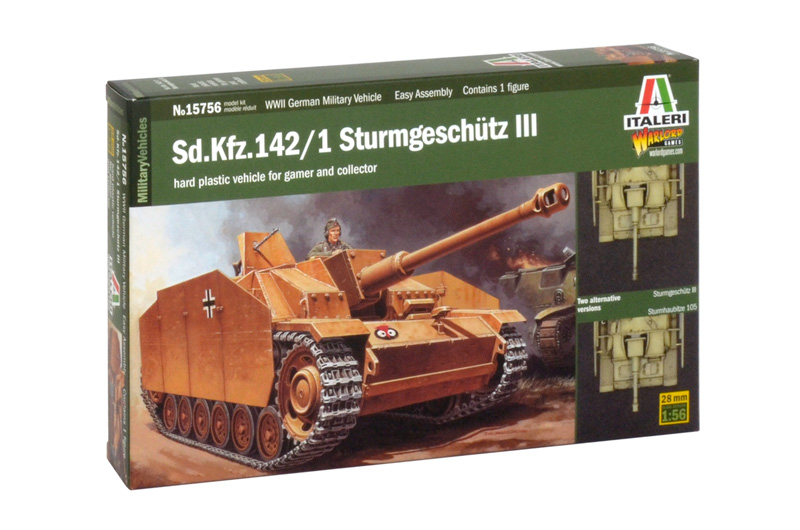 Сборная модель САМОХОДКА Sd. Kfz. 142/1 STURMGESCH?TZ III (масштаб 1/56)