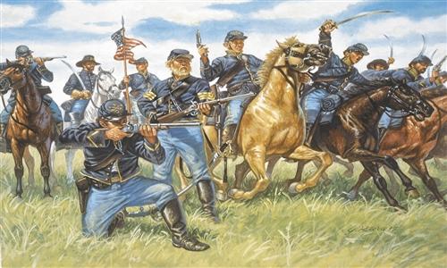 Сборная модель Солдатики Union Cavalry (American Civil War)