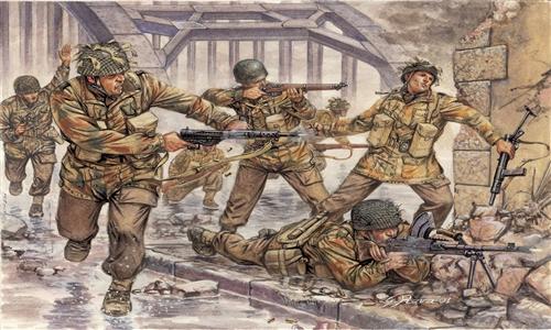 Сборная модель Солдатики Britich Paratroopers (WWII)