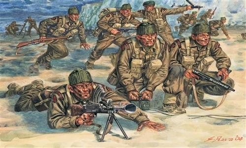 Сборная модель Солдатики British Commandos