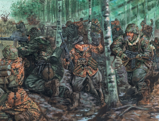 Сборная модель Солдатики German Elite Troops