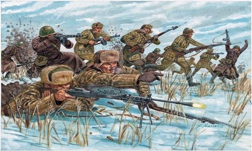 Сборная модель Советская пехота в зимней форме WWII