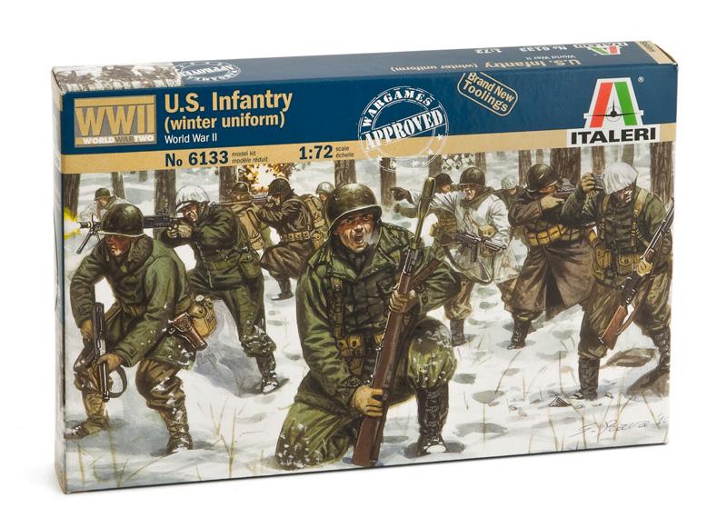 Сборная модель Американская пехота в зимней форме WWII