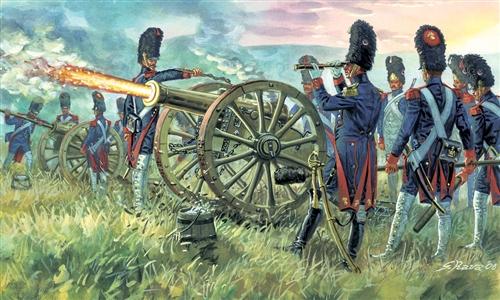 Сборная модель Фр.импер.артиллерия