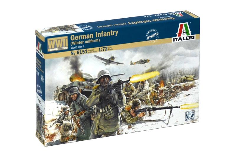 Сборная модель Немецкая пехота в зимней форме WWII