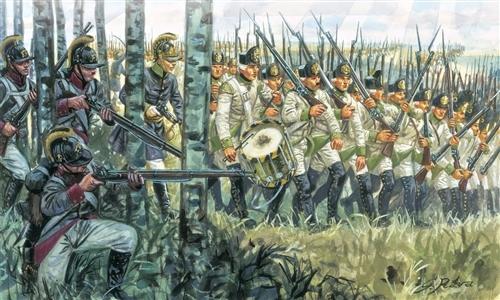 Сборная модель Австрийская пехота 1798-1805