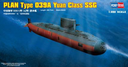 Сборная модель Подводная лодка PLAN Type 039A Yuan Class submarine