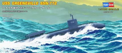Сборная модель Подлодка USS Navy Greeneville submarine SSN-772