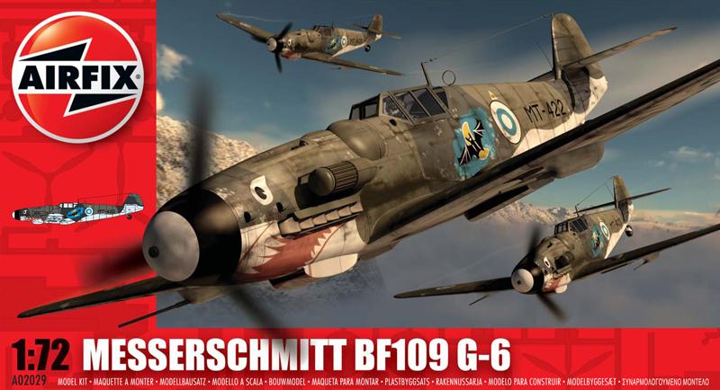 Сборная модель Самолет MESSERSCHMITT BF109G