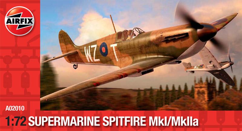 Сборная модель САМОЛЕТ SUPERMARINE SPITFIRE Mkl/I