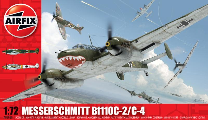 Сборная модель САМОЛЕТ MESSERSCHMITT Bf110C/D