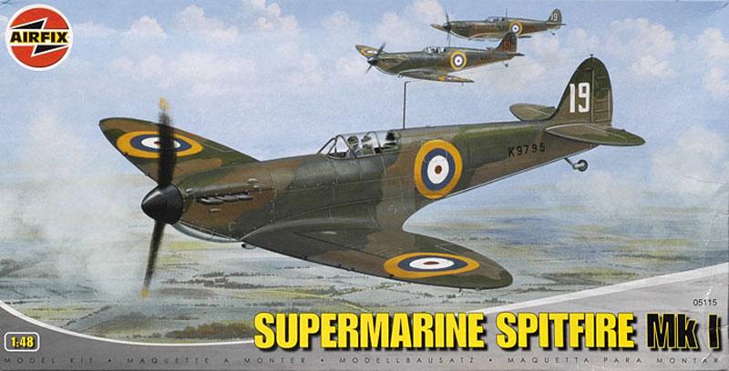 Сборная модель Самолет SUPERMARINE SPITFIRE Mkl