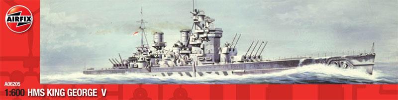 Сборная модель Корабль HMS King George V