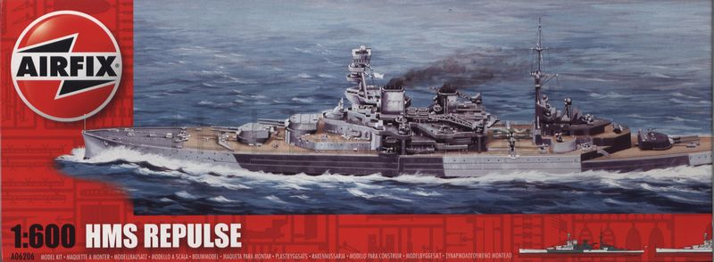Сборная модель Корабль HMS REPULSE
