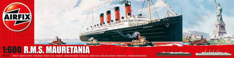 Сборная модель КОРАБЛЬ RMS MAURETANIA