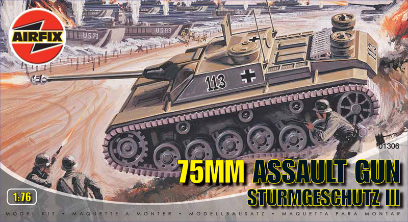 Модель 75мм самоходное орудие Штурмгешутц III