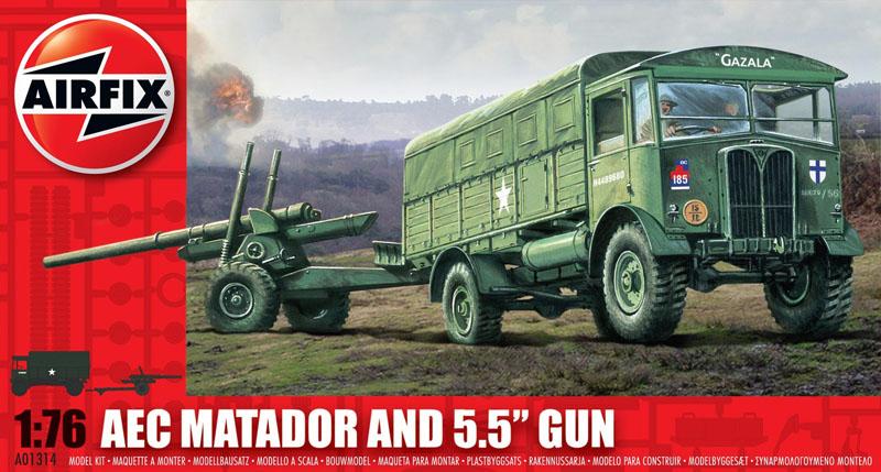 Сборная модель ТЯГАЧ MATADOR И 55 ПУШКА