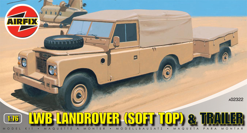 Сборная модель Грузовик с трейлером LWB LANDROVER(SFT TOP)