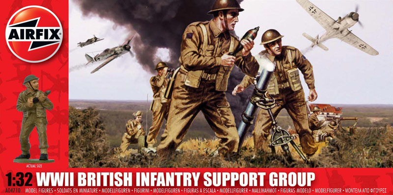 Сборная модель Группа поддержки Британской пехоты
