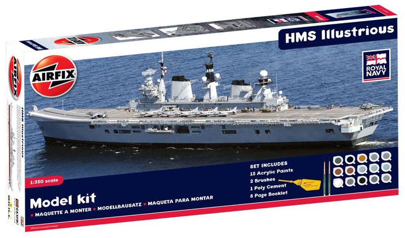 Сборная модель КОРАБЛЬ  HMS ILLUSTRIOUS 1/350